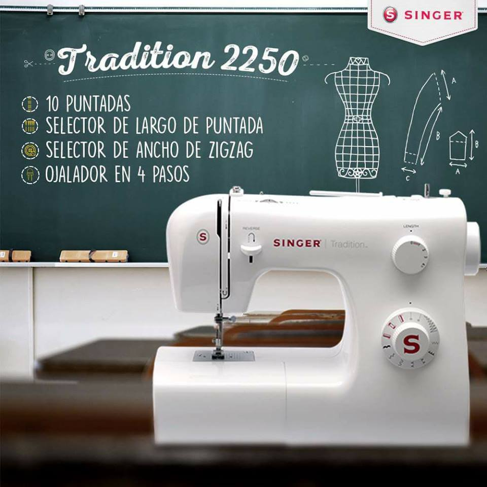 Tradition 2250 es como una maestra de la costura: paciente, amable, respeta tu ritmo y te apoya para que hagas nuevas prendas. Encuéntrala en: www.corpessa.com.pe